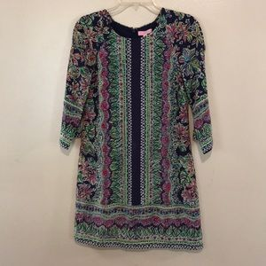Lilly Pulitzer 100% Silk Floral Print Dress